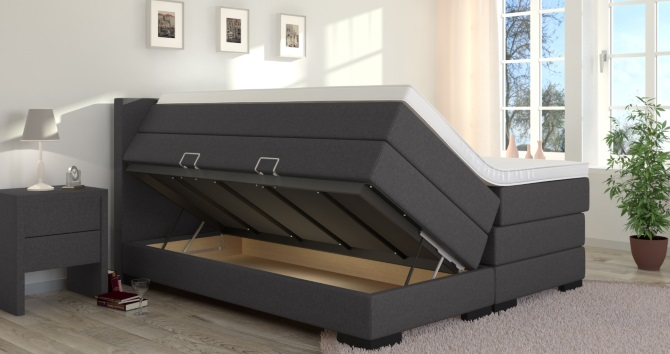 boxspringbett mit bettkasten g nstig von boxspring welt. Black Bedroom Furniture Sets. Home Design Ideas
