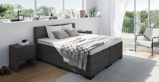 boxspringbett 200x200 cm online kaufen boxspring welt. Black Bedroom Furniture Sets. Home Design Ideas