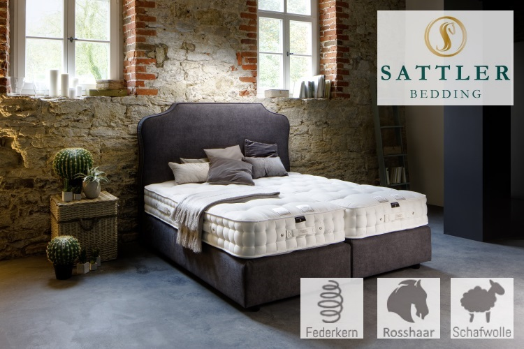 premium boxspringbetten mit sattler naturmatratze. Black Bedroom Furniture Sets. Home Design Ideas