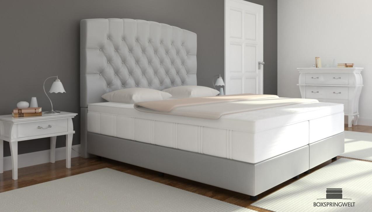boxspringbett elisabeth 160 x 220 cm boxspring welt. Black Bedroom Furniture Sets. Home Design Ideas
