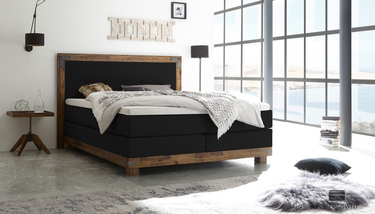 boxspringbett hasena 160 x 200 cm boxspring welt. Black Bedroom Furniture Sets. Home Design Ideas