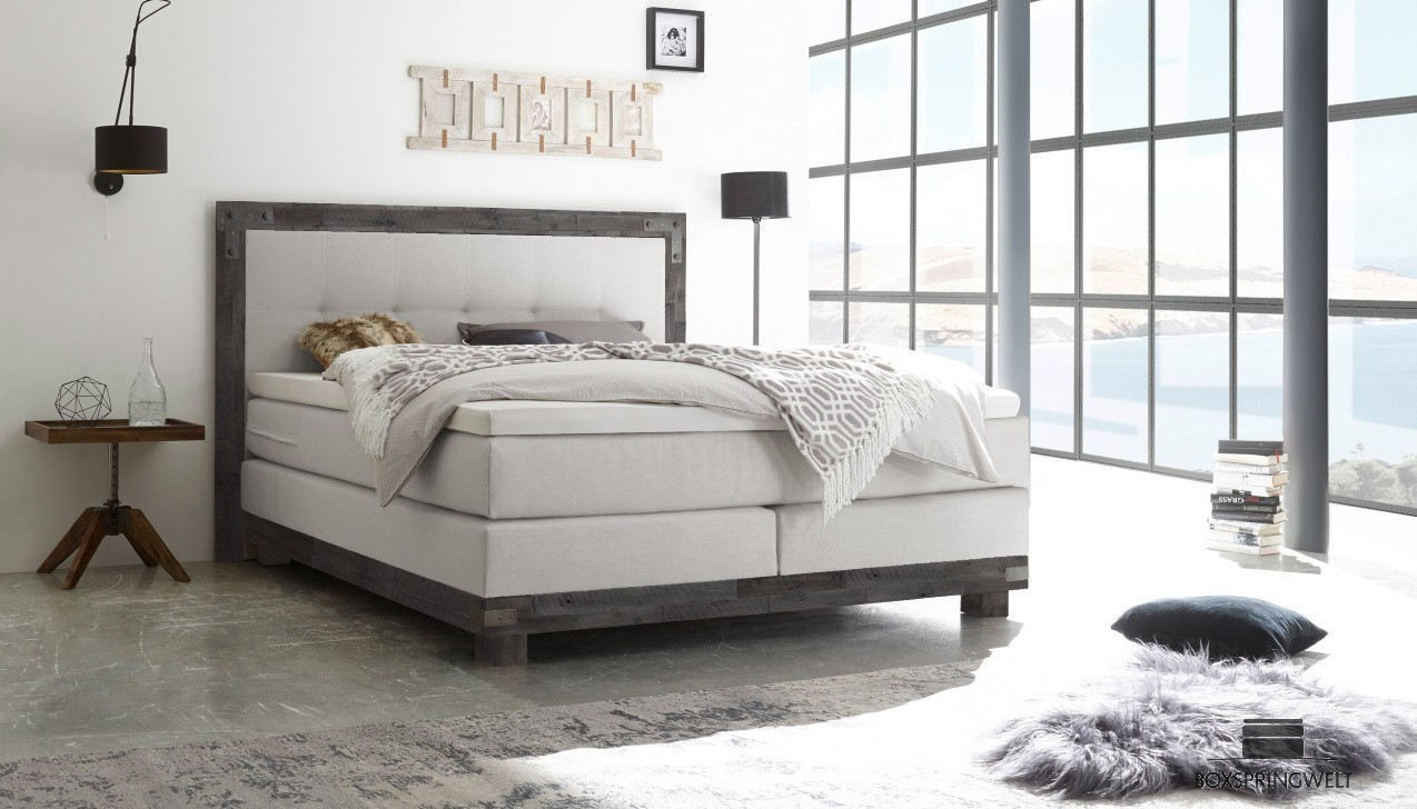 boxspringbett hasena 180 x 200 cm boxspring welt. Black Bedroom Furniture Sets. Home Design Ideas