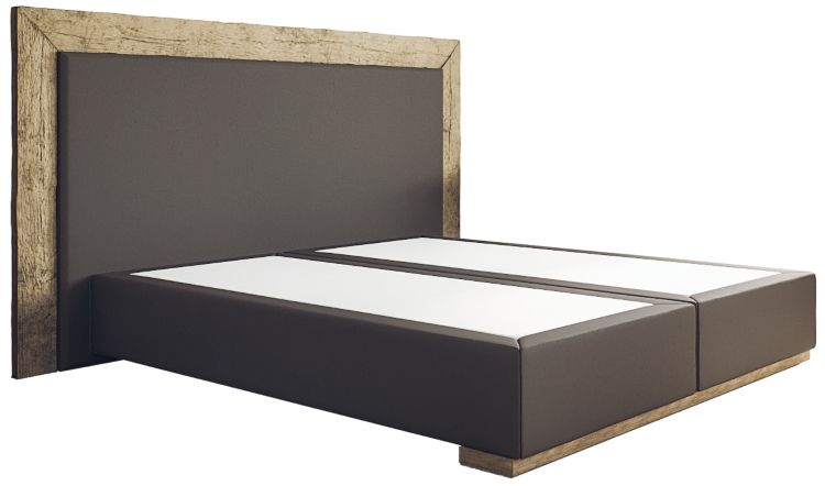 boxspringbett diego ohne matratze 200 x 200 aus antikholz. Black Bedroom Furniture Sets. Home Design Ideas