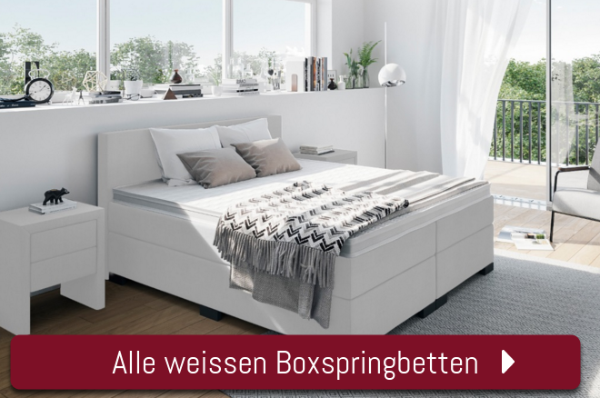 Boxspringbetten in Weiss Boxspring-Welt